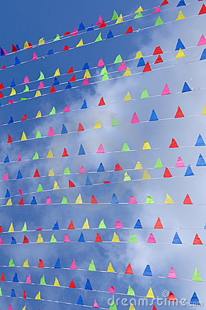 Colored flags