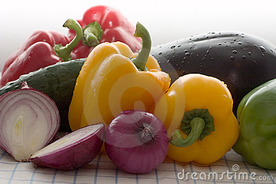 Colored Fresh Vegetables
