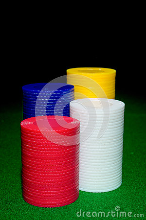 Colored game playing chips