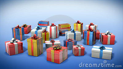 Colored gift boxes