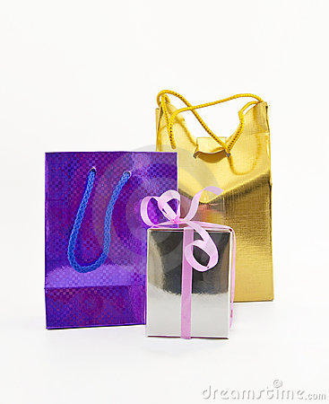 Colored gift packages
