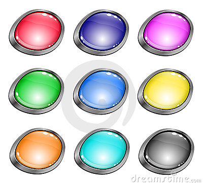 Colored glossy buttons for website