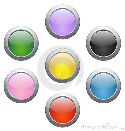 Colored glossy icons