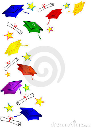 Free Colored Graduation Caps Frame Stock Images - 5047804