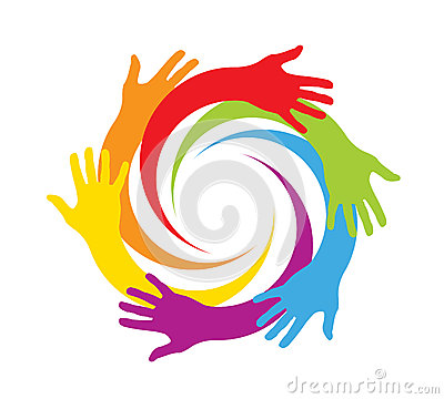 Free Colored Hands In A Circle Stock Photography - 42391832
