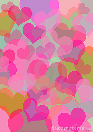 Free Colored Hearts Royalty Free Stock Image - 3406026