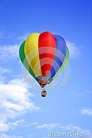 Colored hot-air ballon