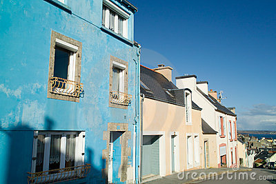 Colored house in brittany