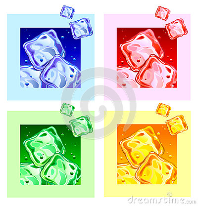 Free Colored Ice Cubes Royalty Free Stock Photography - 74648477