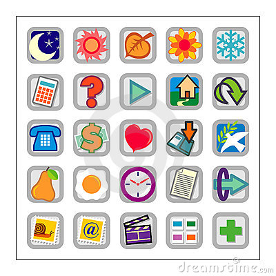 Free Colored Icon Set 1 - Version2 Royalty Free Stock Images - 1318089