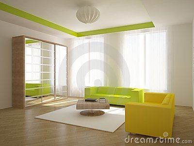 Colored interior concept