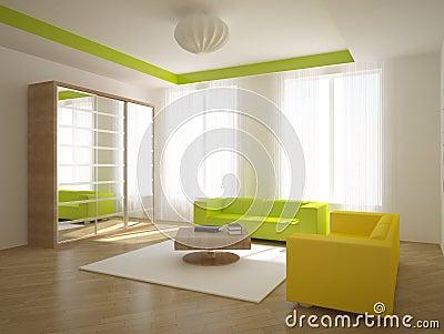 Colored interior concept