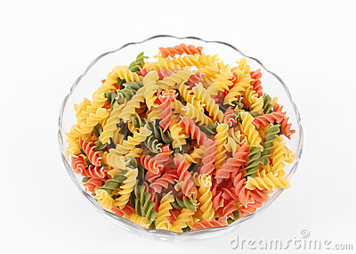 Colored Italian pasta
