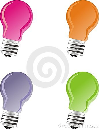 Colored light-bulbs