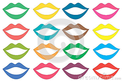 Colored lips set