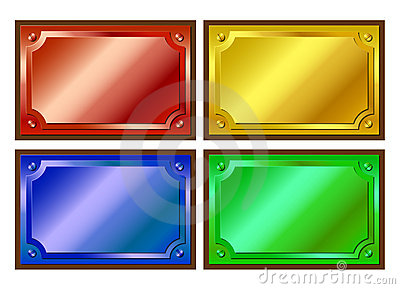Colored metallic plaques