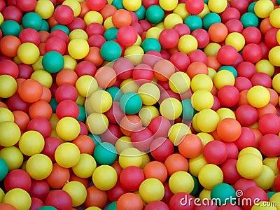 Colored mini balls