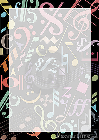 colored music notes