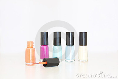Colored nail polish