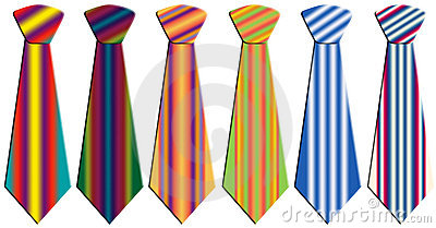 Colored neckties