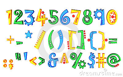 Colored numbers
