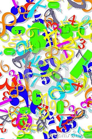 Colored Numeric Wallpaper