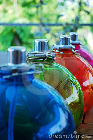 Colored Oil Lamps