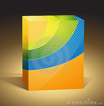 Colored packaging box