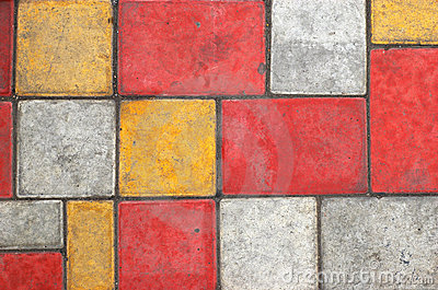 Colored Paving Slab Texture #1 Royalty Free Stock Photography - Image: 1632677