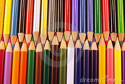 Colored pencil points