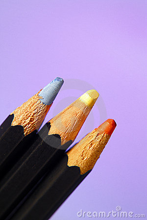 Free Colored Pencils Blue Yellow Or Stock Photography - 5672582