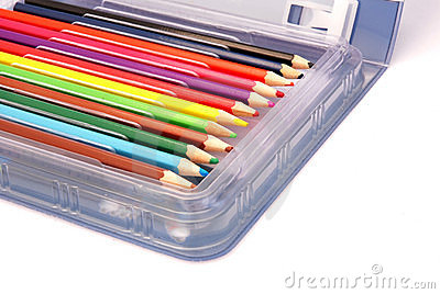 Colored Pencils in Box
