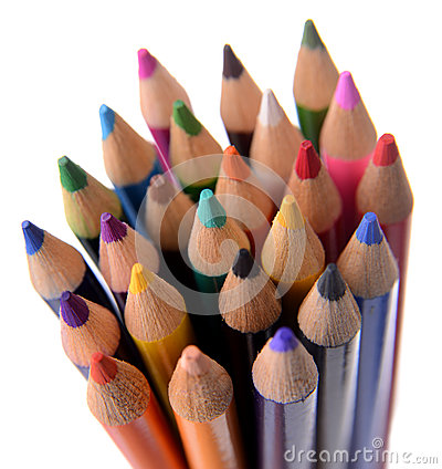 Colored Pencils Bundled Together