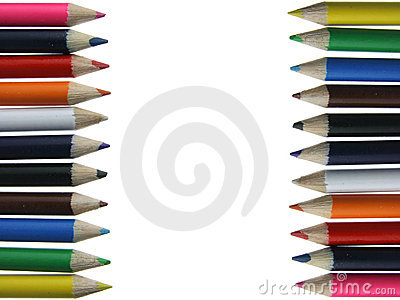 Colored pencils - crayons - chalks