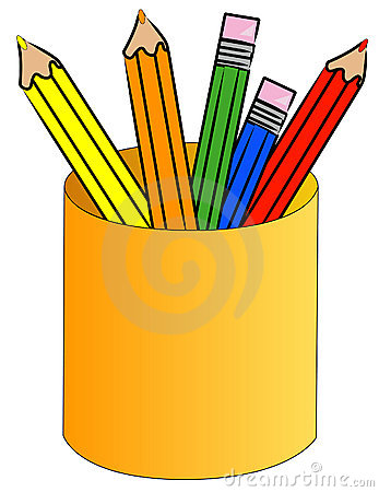 Colored Pencils In A Cup Royalty Free Stock Photography - Image ...