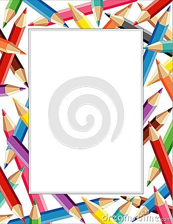 Free Colored Pencils Frame  Stock Photos - 4670483