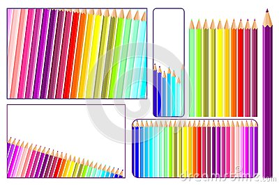 Colored pencils in vector