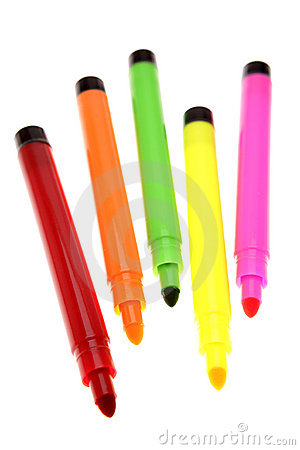 Free Colored Pens Stock Images - 4963454