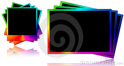 colored photo frames royalty free stock photo image 24997625