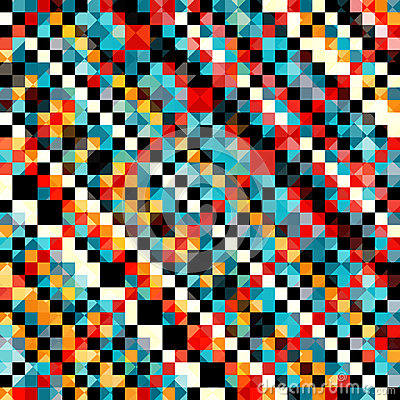 Free Colored Pixel Pattern In Retro Style Vector Illustration Royalty Free Stock Photography - 61942137