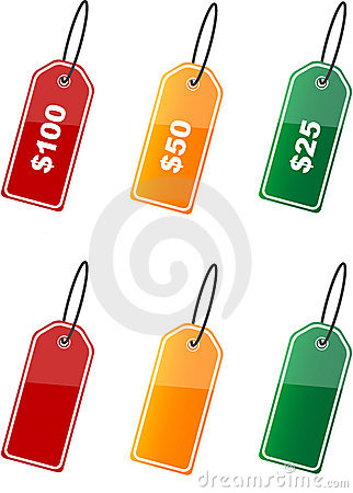 Colored price labels