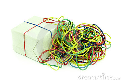 Colored rubber kolechki