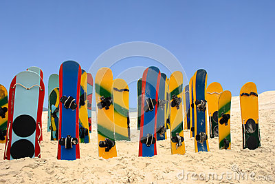 Colored sand boards