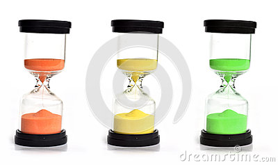 Colored sand clocks