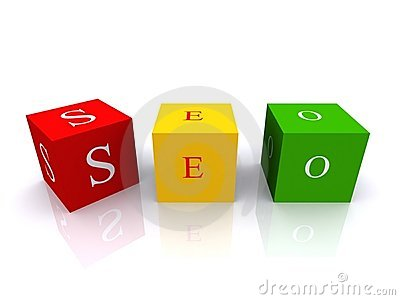 Colored SEO cubes