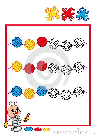 Colored sequence, ball