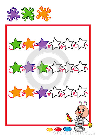 Colored sequence, stars