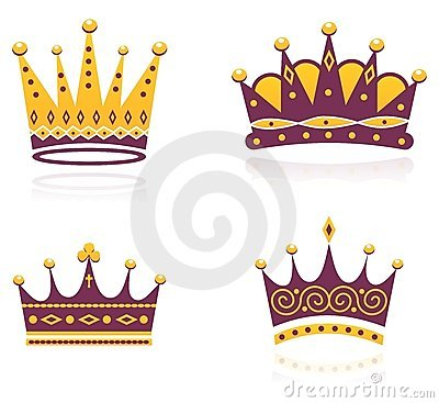 Colored set of crowns