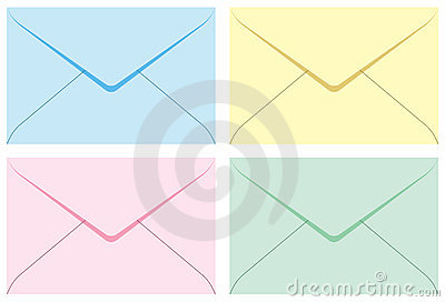 Colored set envelopes.