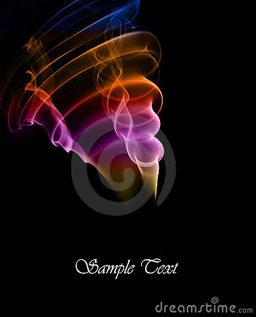 Colored smoke abstract